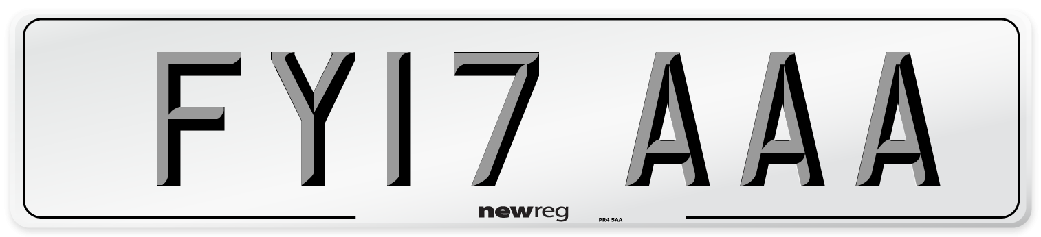 FY17 AAA Number Plate from New Reg
