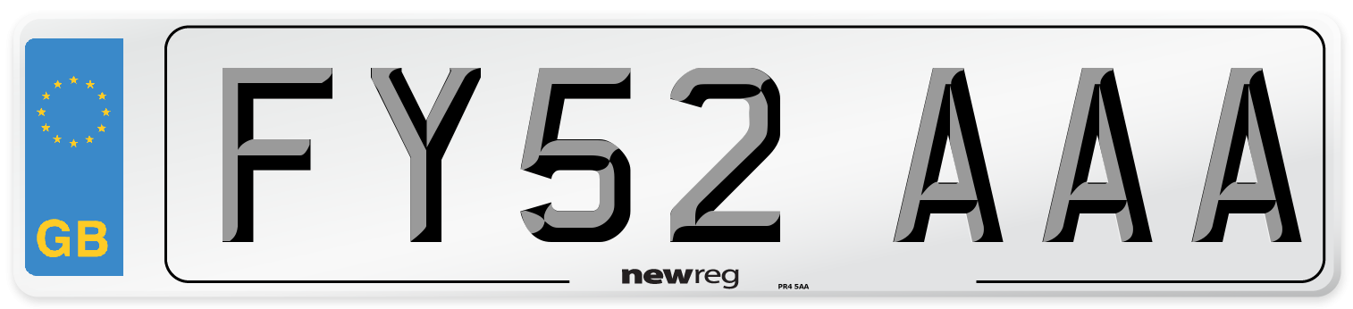FY52 AAA Number Plate from New Reg