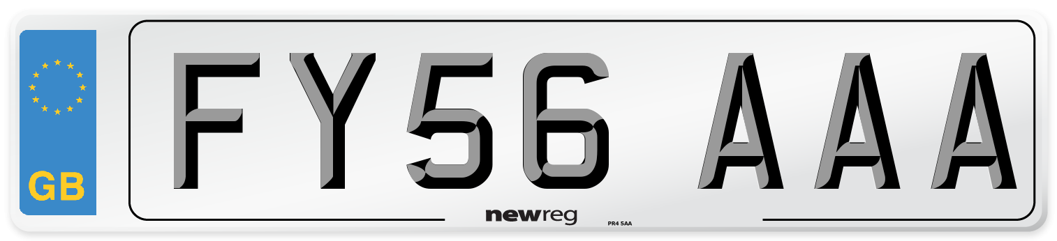 FY56 AAA Number Plate from New Reg