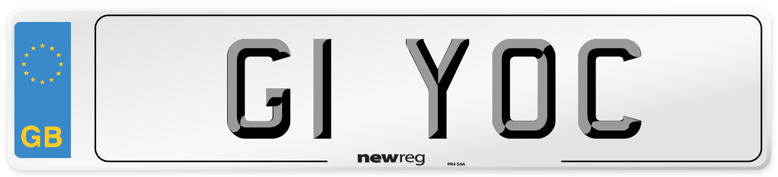 G1 YOC Number Plate from New Reg