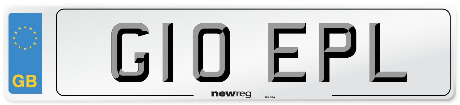 G10 EPL Number Plate from New Reg