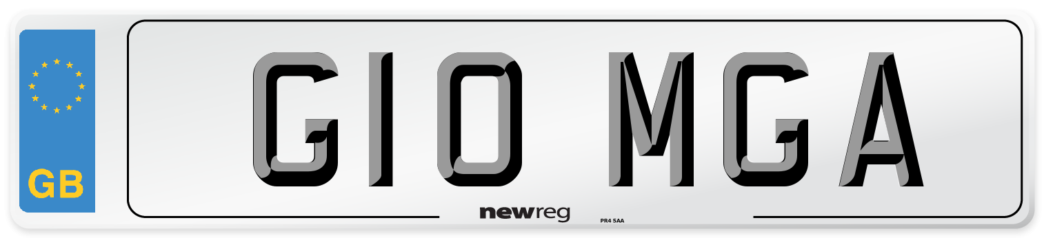 G10 MGA Number Plate from New Reg