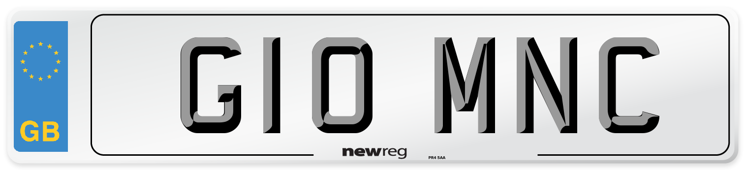 G10 MNC Number Plate from New Reg