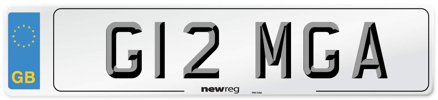 G12 MGA Number Plate from New Reg