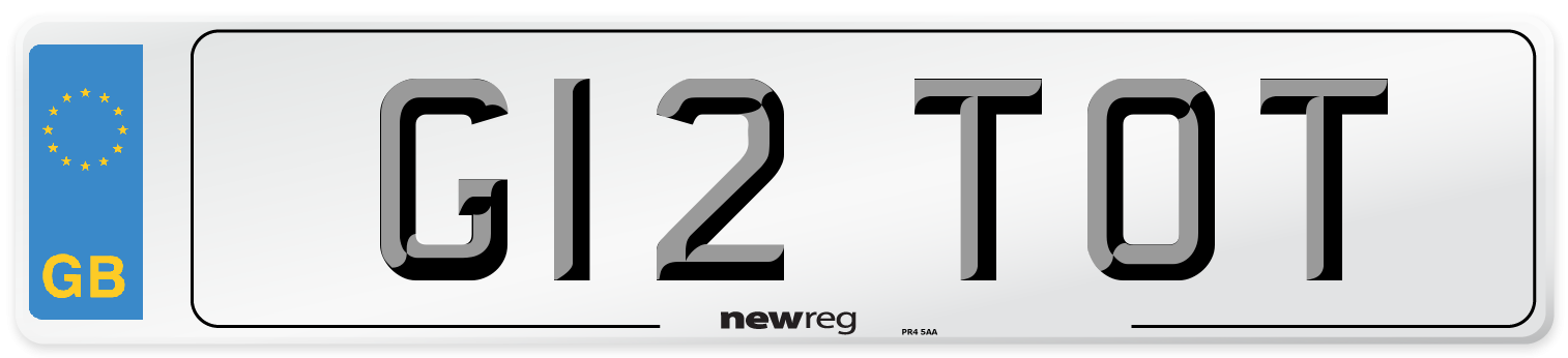 G12 TOT Number Plate from New Reg