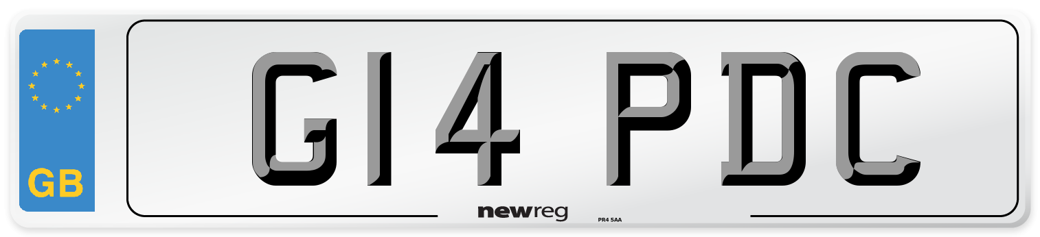 G14 PDC Number Plate from New Reg