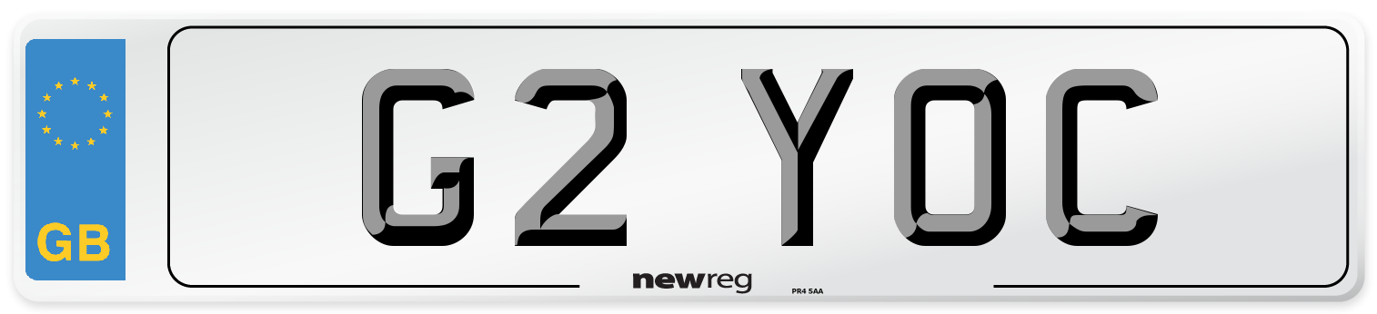 G2 YOC Number Plate from New Reg
