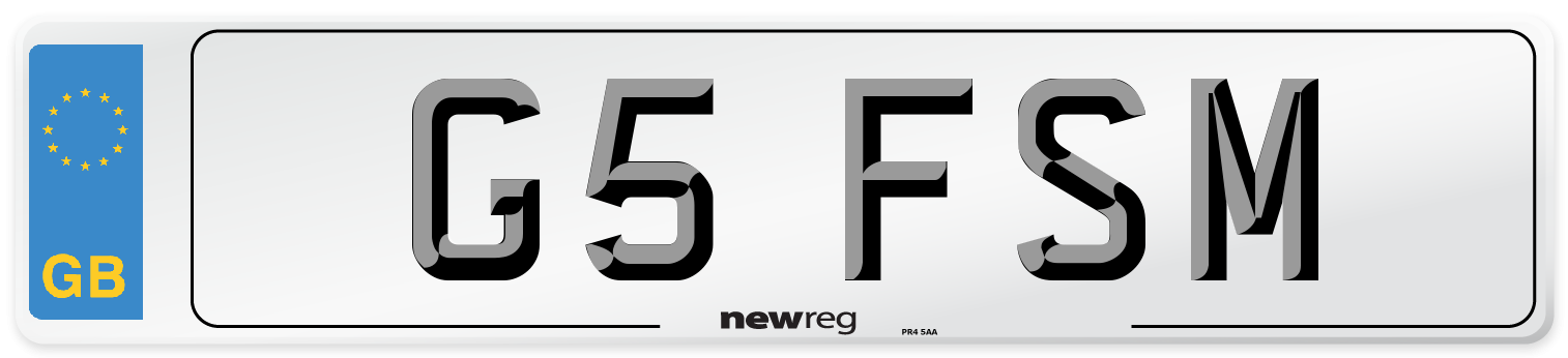 G5 FSM Number Plate from New Reg