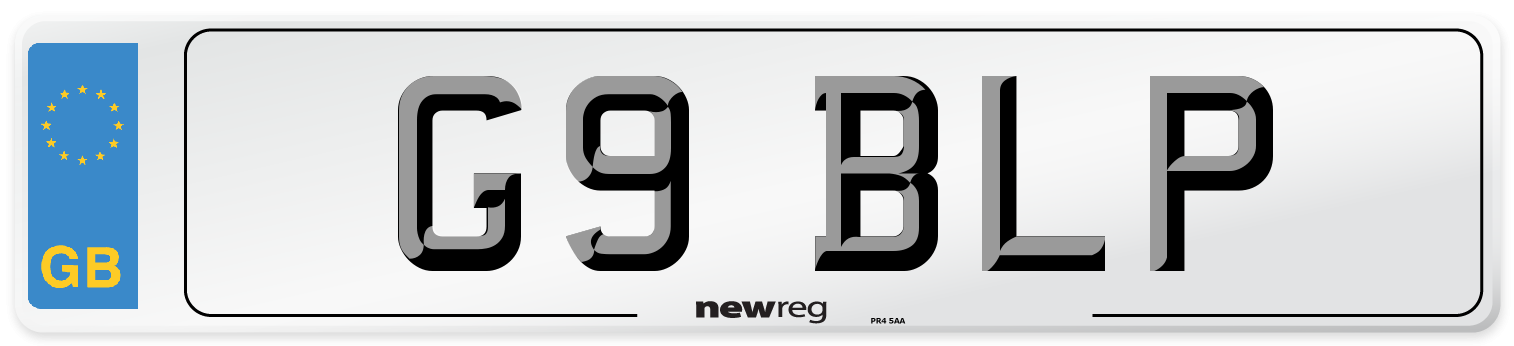 G9 BLP Number Plate from New Reg