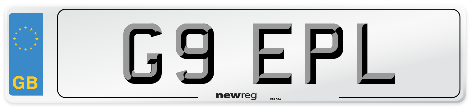 G9 EPL Number Plate from New Reg