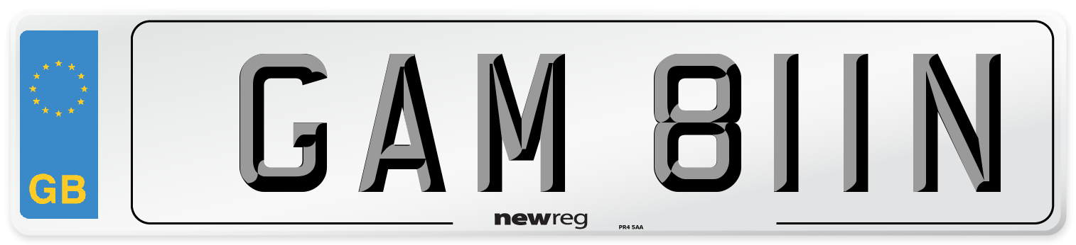GAM 811N Number Plate from New Reg