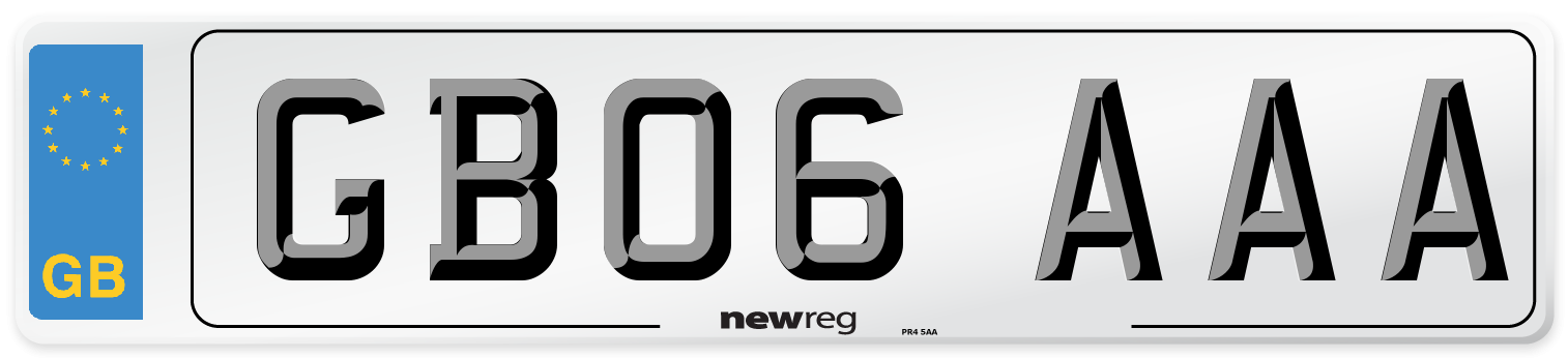 GB06 AAA Number Plate from New Reg