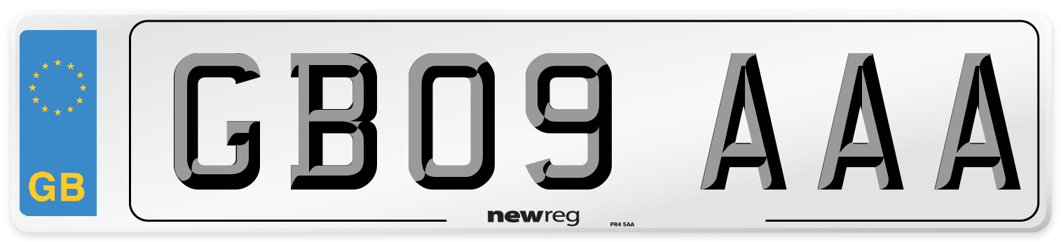GB09 AAA Number Plate from New Reg