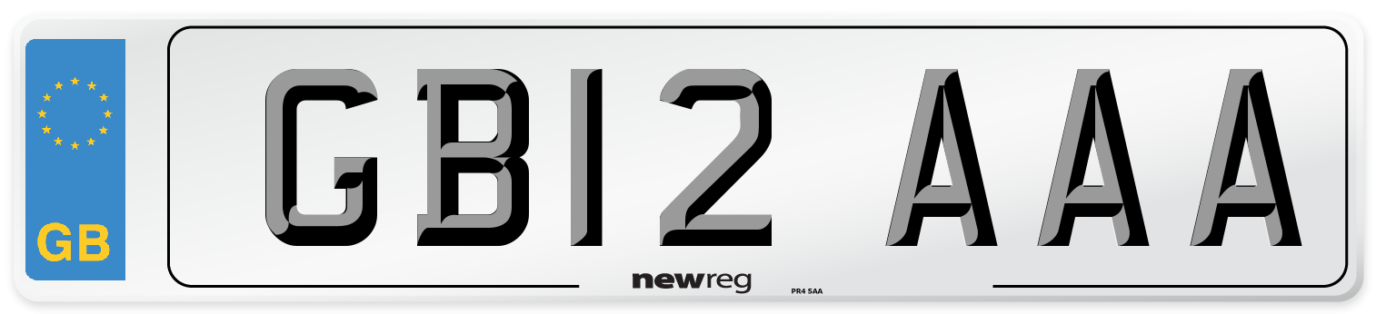 GB12 AAA Number Plate from New Reg