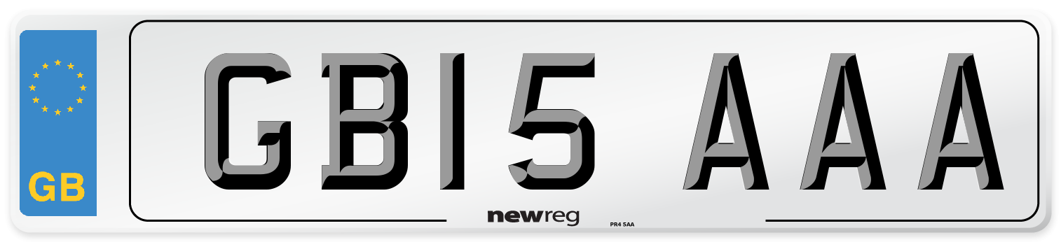 GB15 AAA Number Plate from New Reg