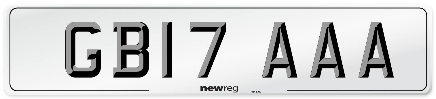 GB17 AAA Number Plate from New Reg
