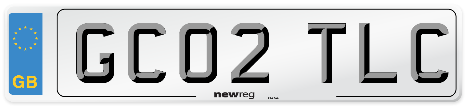 GC02 TLC Number Plate from New Reg