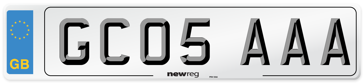 GC05 AAA Number Plate from New Reg