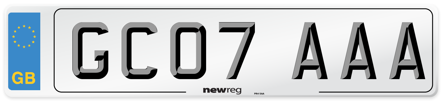 GC07 AAA Number Plate from New Reg