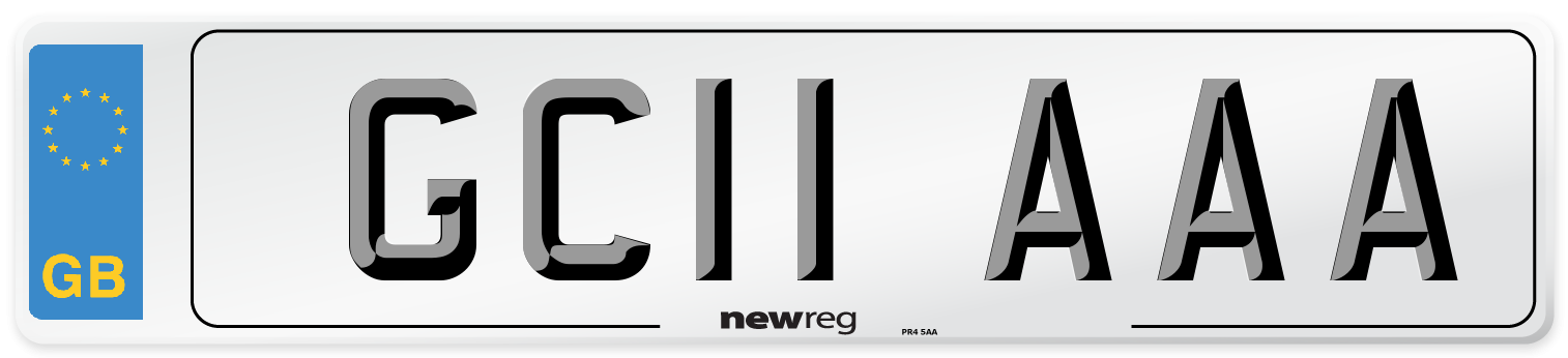 GC11 AAA Number Plate from New Reg