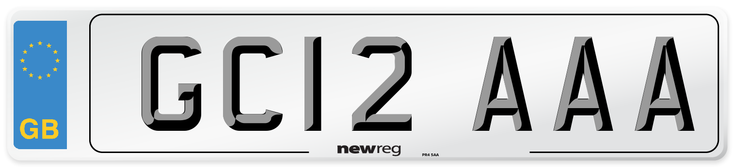 GC12 AAA Number Plate from New Reg