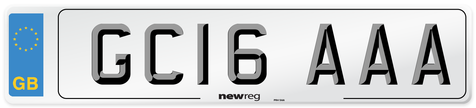 GC16 AAA Number Plate from New Reg