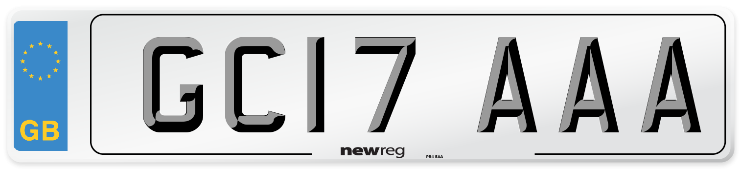 GC17 AAA Number Plate from New Reg