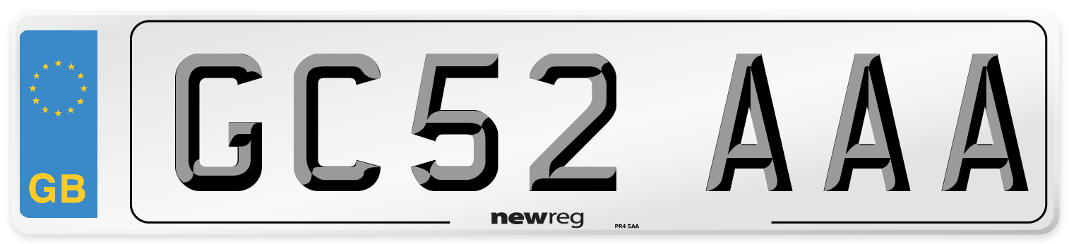 GC52 AAA Number Plate from New Reg
