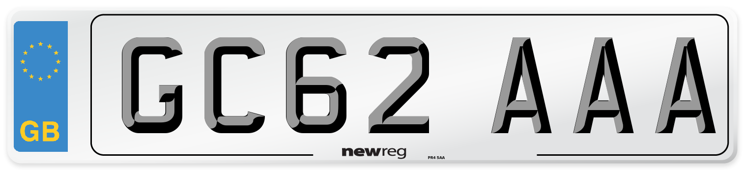 GC62 AAA Number Plate from New Reg