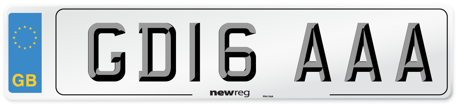 GD16 AAA Number Plate from New Reg