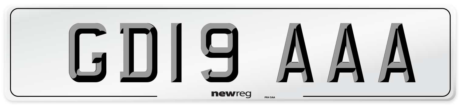 GD19 AAA Number Plate from New Reg