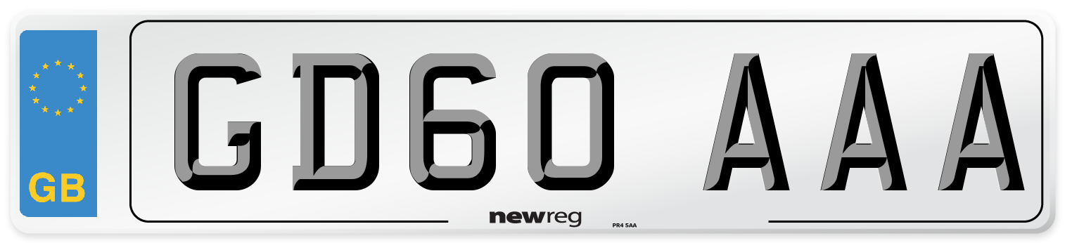 GD60 AAA Number Plate from New Reg
