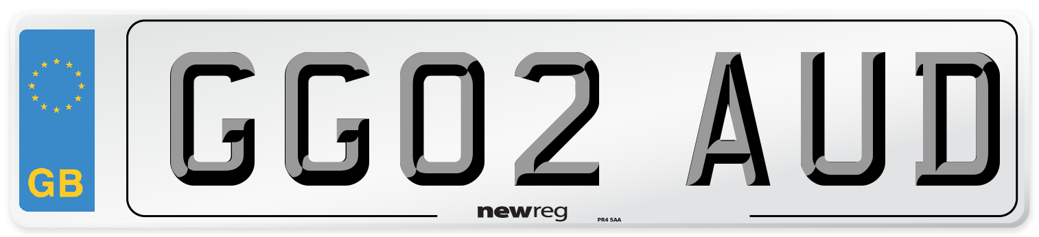 GG02 AUD Number Plate from New Reg
