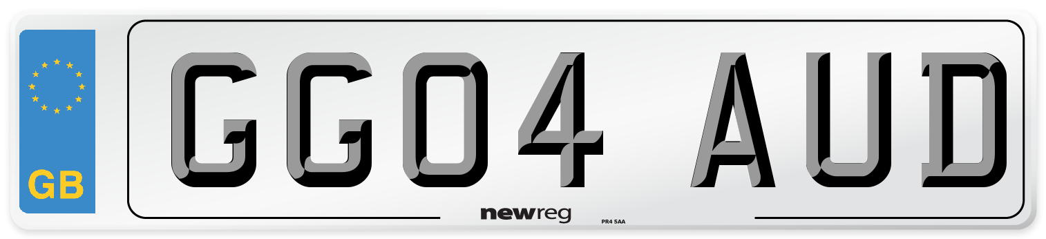 GG04 AUD Number Plate from New Reg