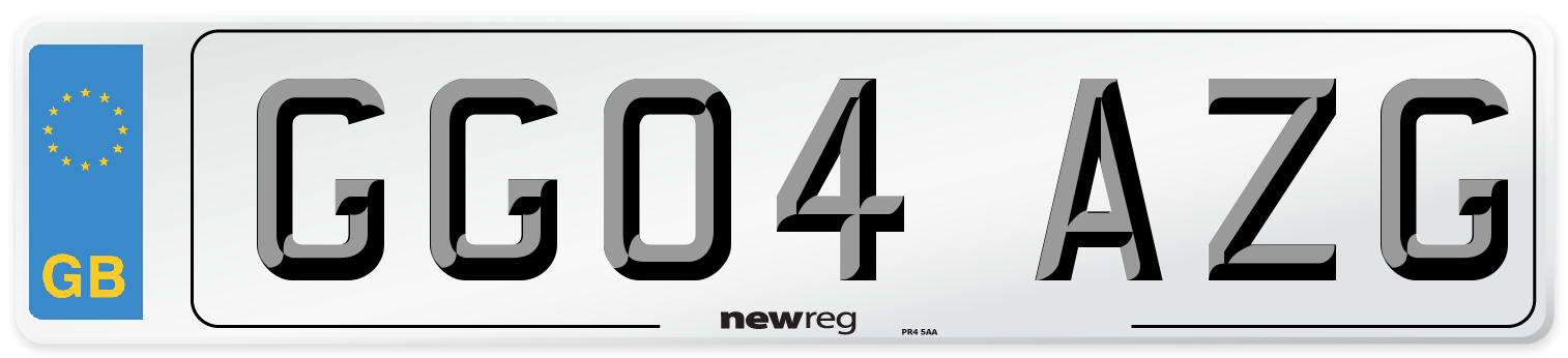 GG04 AZG Number Plate from New Reg