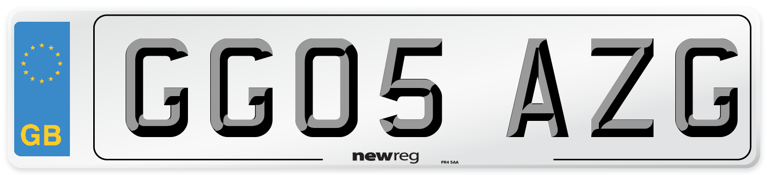GG05 AZG Number Plate from New Reg
