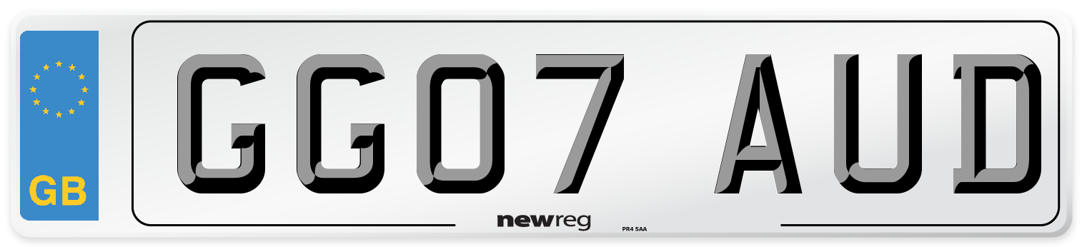 GG07 AUD Number Plate from New Reg