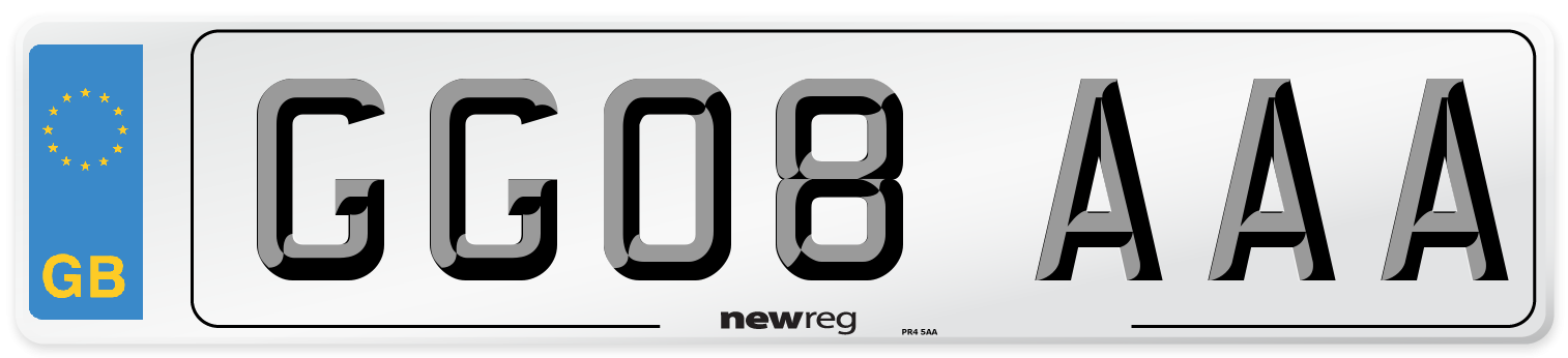 GG08 AAA Number Plate from New Reg