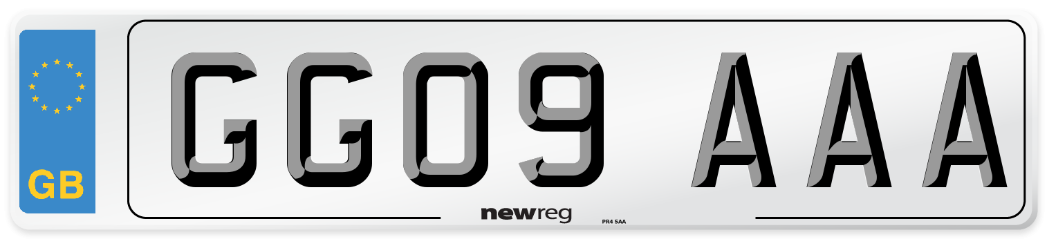 GG09 AAA Number Plate from New Reg