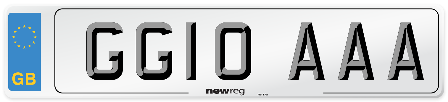 GG10 AAA Number Plate from New Reg
