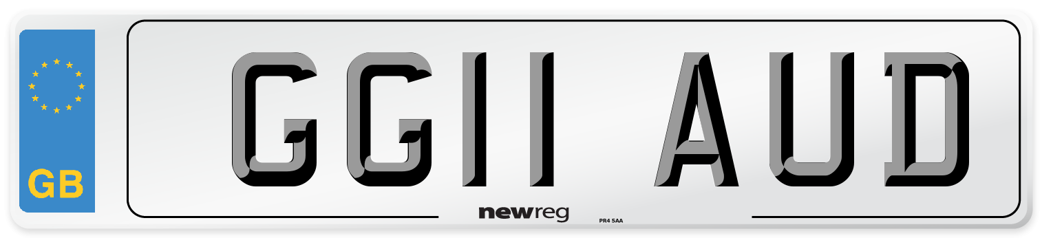 GG11 AUD Number Plate from New Reg