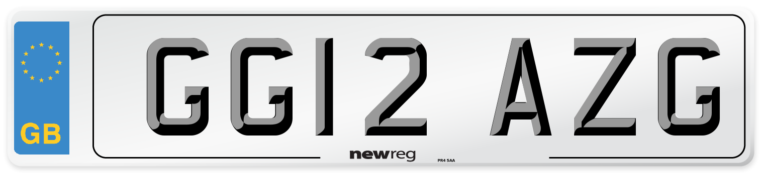 GG12 AZG Number Plate from New Reg