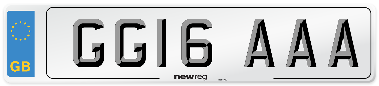 GG16 AAA Number Plate from New Reg