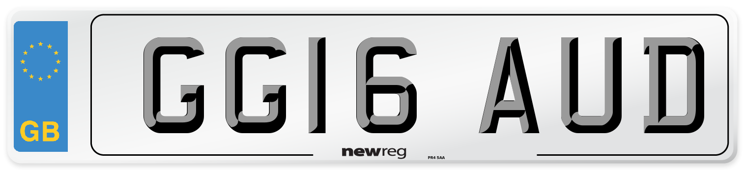 GG16 AUD Number Plate from New Reg