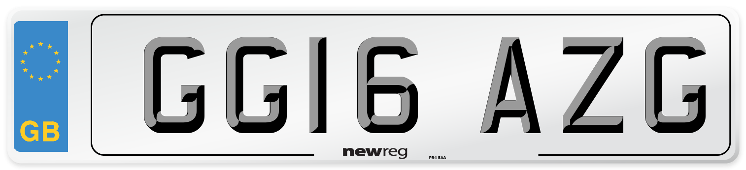 GG16 AZG Number Plate from New Reg