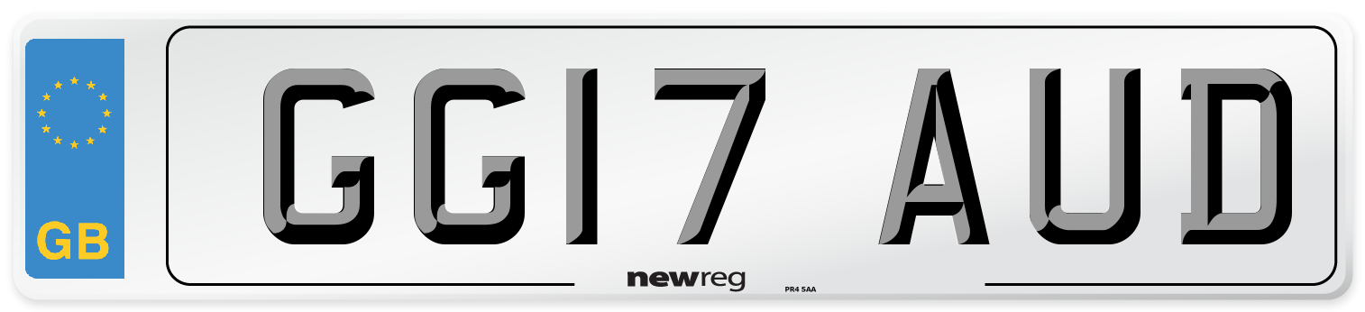 GG17 AUD Number Plate from New Reg