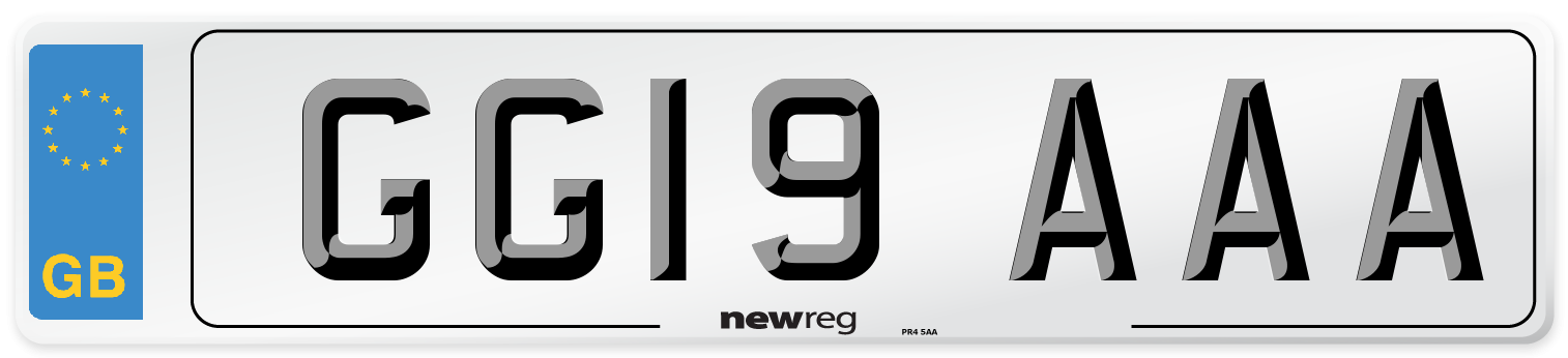 GG19 AAA Number Plate from New Reg