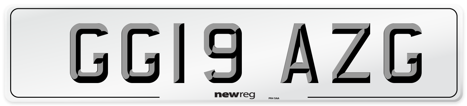 GG19 AZG Number Plate from New Reg
