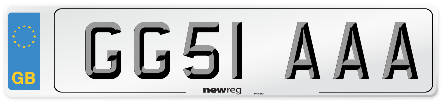 GG51 AAA Number Plate from New Reg