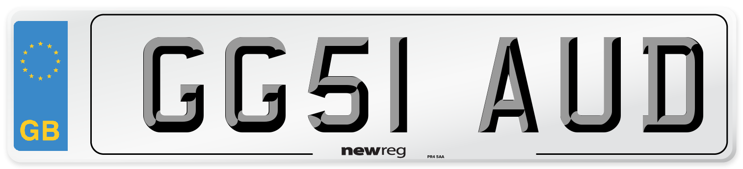 GG51 AUD Number Plate from New Reg